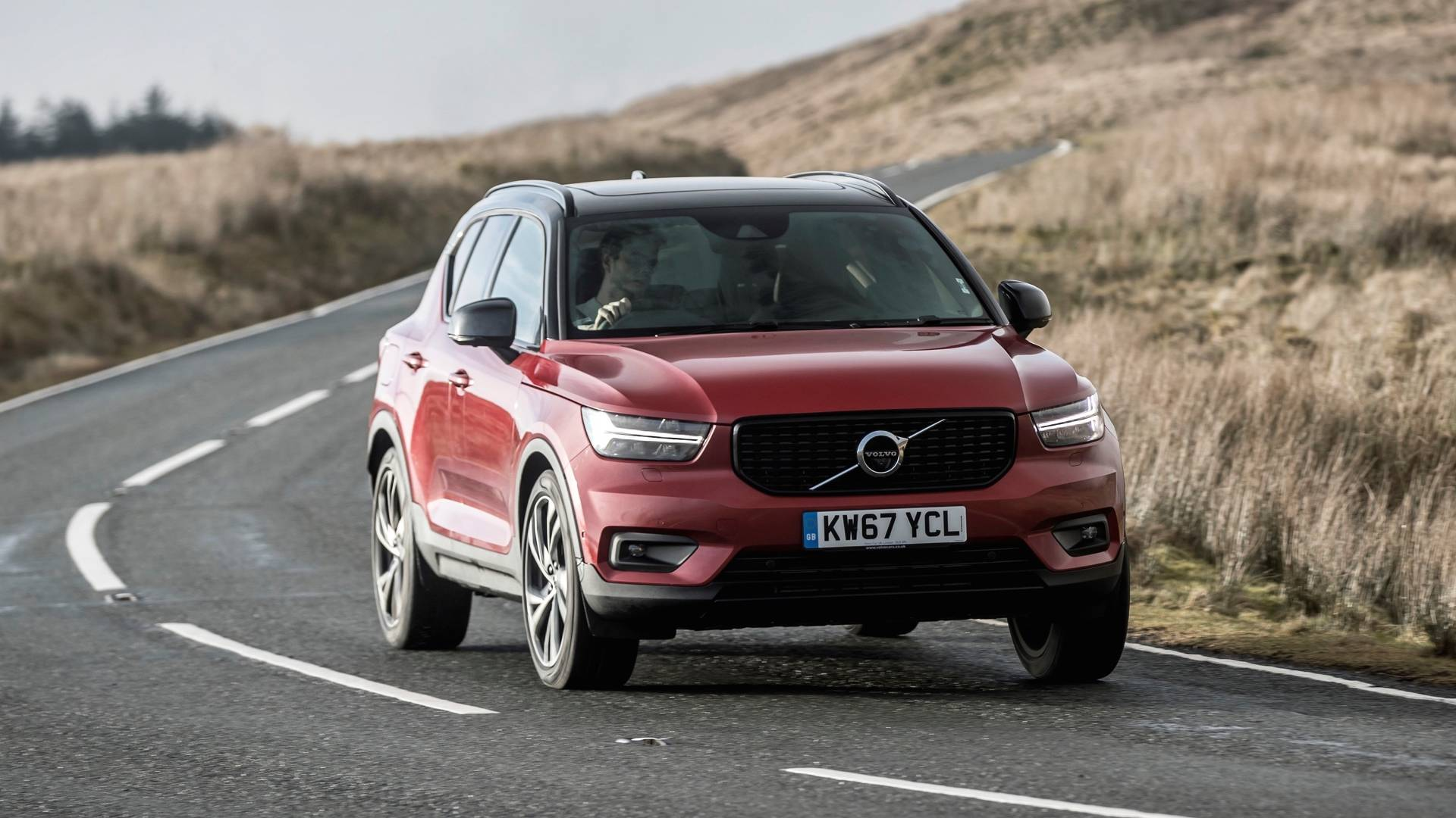 Volvo XC40 corners on a twisty country road, a place where it feels surprisingly at home.